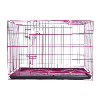 Petto Ai Collapsible Pet Cage - PINK