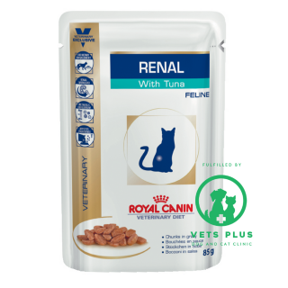 Royal Canin Feline Veterinary Diet RENAL with TUNA 85g Cat Wet Food
