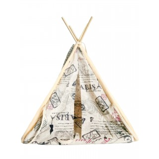 Pet Tent/Teepee - Paris Design