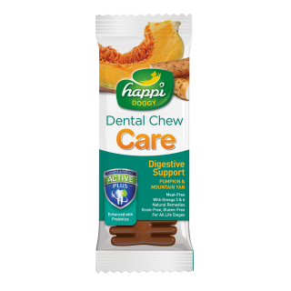 Happi Doggy Dental Chew Care Digestive Support Pumpkin & Mountain Yam 25g Dog Treats