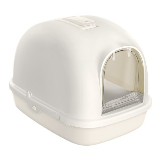 Tom Cat Large HOODED Cat Litter Box with Foot Step - GREY