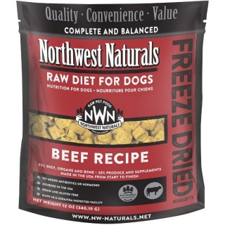 Northwest Naturals RAW DIET for Dogs - Freeze Dried Nuggets BEEF RECIPE 340.19g (12oz)