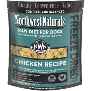 Northwest Naturals RAW DIET for Dogs - Freeze Dried CHICKEN RECIPE 340.19g (12oz)