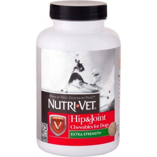 Nutri-Vet Hip & Joint Extra Strength 75 Chewables Dog Supplement