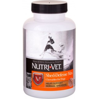 Nutri-Vet Shed-Defense Max 60 Chewables Dog Supplement