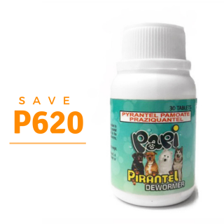PROMO Papi Pirantel Dewormer 30pcs Medium to Large Breed Dog