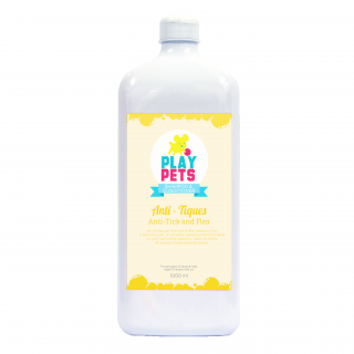 Play Pets Anti-Tick & Flea 1000ml Pet Shampoo & Conditioner