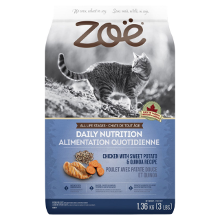 Zoe Cat Daily Nutrition Chicken with Sweet Potato & Quinoa Recipe 1.3kg Cat Dry Food