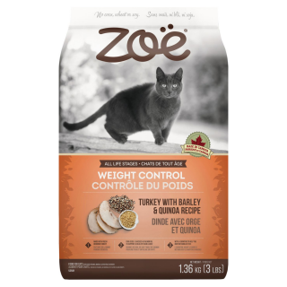 Zoe Cat Weight Control Turkey with Barley & Quinoa Recipe 1.3kg Cat Dry Food