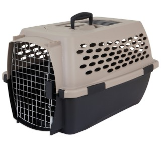 Petmate Vari Kennel Pet Carrier - 24x16.7x14.5in (TAUPE/BLACK)