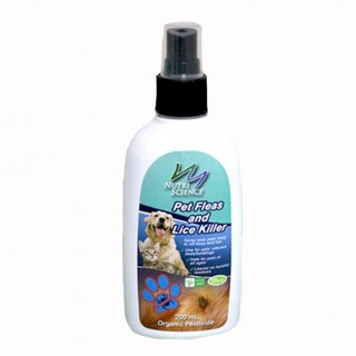 Nutriscience Fleas & Lice Killer 200ml Organic Pet Spray