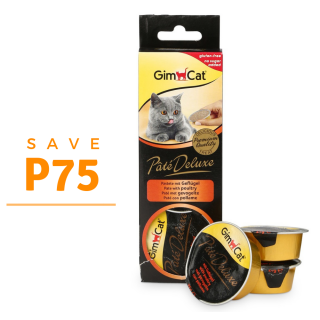 PROMO GimCat Pâté Deluxe with Poultry 3 x 21g Cat Food Toppers/Treats
