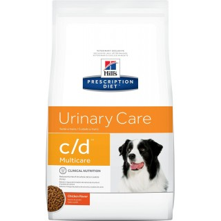 Hill's Prescription Diet Canine Urinary Care c/d Multicare Chicken Flavor 1.5kg Dog Dry Food