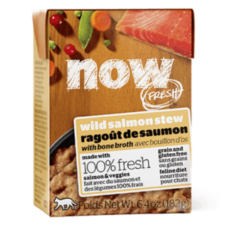 Now Fresh Grain Free Wild Salmon Stew with Bone Broth 182g Cat Wet Food/Toppers