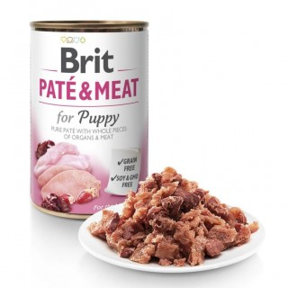 Brit Pate & Meat for Puppy 400g Grain Free Dog Wet Food