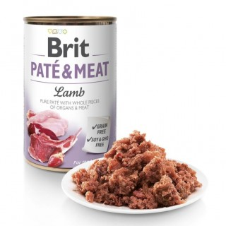 Brit Pate & Meat Lamb 400g Grain Free Dog Wet Food
